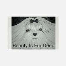 Beauty Is Fur Deep Rectangle Magnet