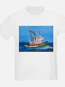 Hand Painted Steam Tug Master T-Shirt