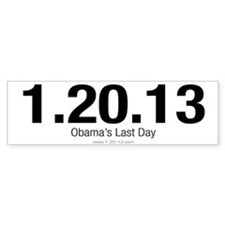 Obama's Last Day White Bumper Bumper Sticker