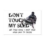 Snowmobile Threat Mini Poster Print