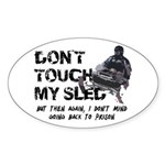 Snowmobile Threat Oval Sticker