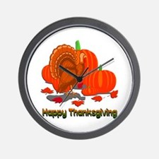 Thanksgiving Turkey Wall Clock