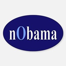 Baby Blue nObama Oval Decal