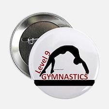 Gymnastics Button - Level 9