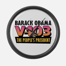 The People's President (1) Large Wall Clock