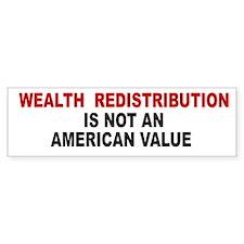 Wealth Redistribution Bumper Bumper Sticker
