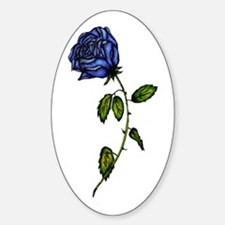 Blue Rose Oval Decal