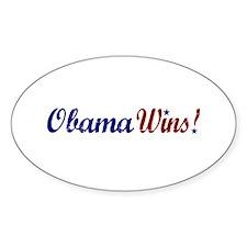 Obama Wins 2008 Oval Decal