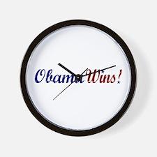 Obama Wins 2008 Wall Clock