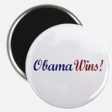 """Obama Wins 2008 2.25"""" Magnet (100 pack)"""