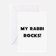 MY Rabbi ROCKS! Greeting Cards (Pk of 10)