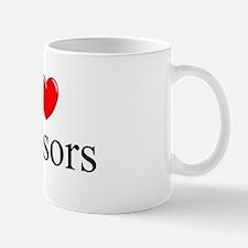 """I Love (Heart) Scissors"" Mug"