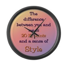 The Difference Between You an Large Wall Clock