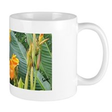 Orange Canna Flowers Mug