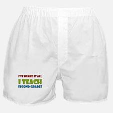 Second Grade Teacher Boxer Shorts