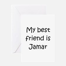 Cool Jamar name Greeting Card