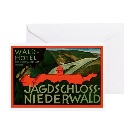 Hotel Jagdschloss Niederwald Germany Greeting Card