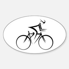 Cycling Oval Bumper Stickers