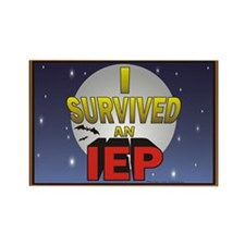 I Survived an IEP Rectangle Magnet (100 pack)