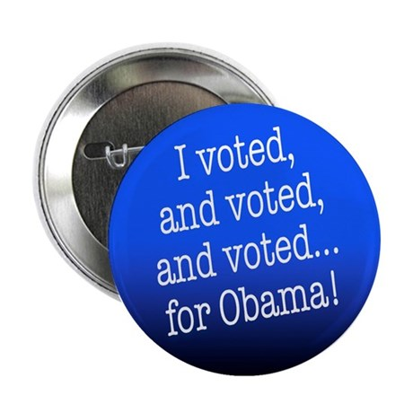 """I voted for Obama! 2.25"""" Button"""
