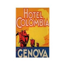Hotel Columbia Genoa Italy Rectangle Magnet