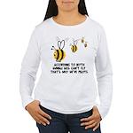 Funny slogan Bee Women's Long Sleeve T-Shirt