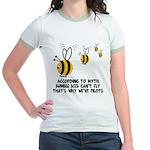 Funny slogan Bee Jr. Ringer T-Shirt