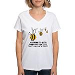 Funny slogan Bee Women's V-Neck T-Shirt