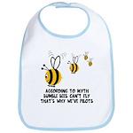 Funny slogan Bee Bib