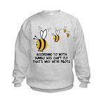 Funny slogan Bee Kids Sweatshirt