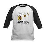 Funny slogan Bee Kids Baseball Jersey