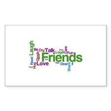 FriendsForever Wordle Rectangle Decal