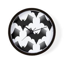 BLACK BATS Wall Clock
