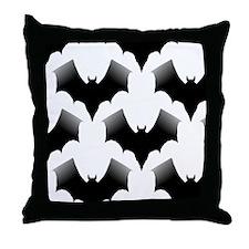 BLACK BATS Throw Pillow