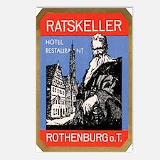 Ratskeller Rothenburg Germany Postcards (Package o