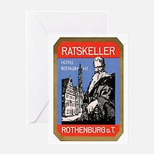 Ratskeller Rothenburg Germany Greeting Card