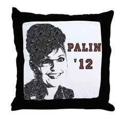 Vintage Sarah Palin '12 Throw Pillow