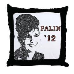 Vintage Sarah Palin '12 Throw Pillow