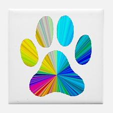 Paw Print Tile Coaster