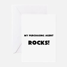 MY Purchasing Agent ROCKS! Greeting Cards (Pk of 1