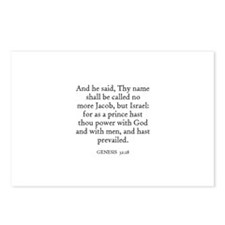 GENESIS  32:28 Postcards (Package of 8)