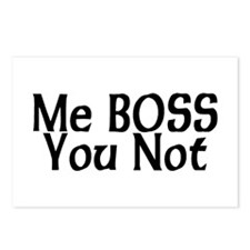 Me Boss You Not Postcards (Package of 8)
