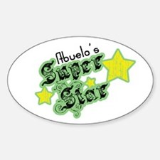 Abuelo's Super Star Oval Decal