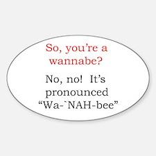 Wa-`NAH-bee Oval Decal
