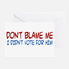 I Didn't Vote for Him Greeting Cards (10 pack)