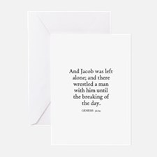 GENESIS  32:24 Greeting Cards (Pk of 10)