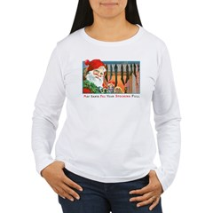 Santa Christmas Stockings (Front) T-Shirt