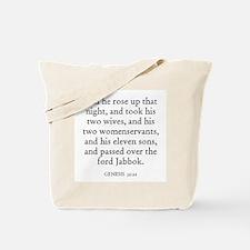 GENESIS  32:22 Tote Bag