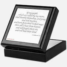 2 Chronicles 7:14 Keepsake Box