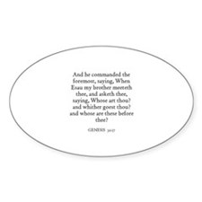 GENESIS 32:17 Oval Decal